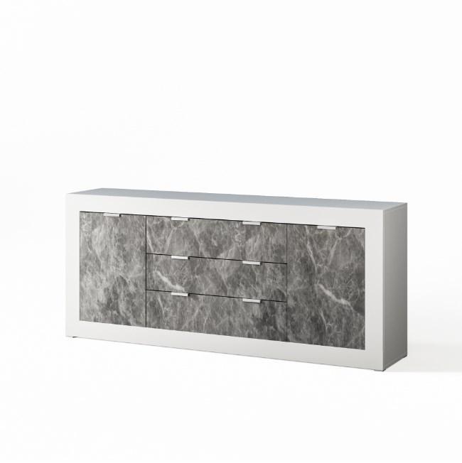 Комод до вітальні з ДСП Прага 2.0 Білий/Індастріал Світ меблів