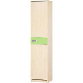 Шкаф пенал в детскую комнату из ДСП и МДФ Терри 500 Клен/Фисташка Світ меблів