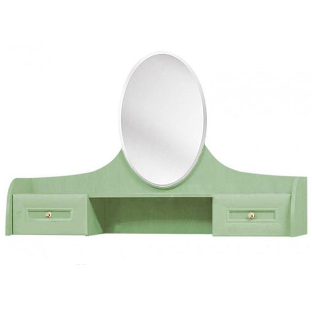 Зеркало (надставка на туалетный столик) из ДСП Селина Ольха зеленая Світ меблів