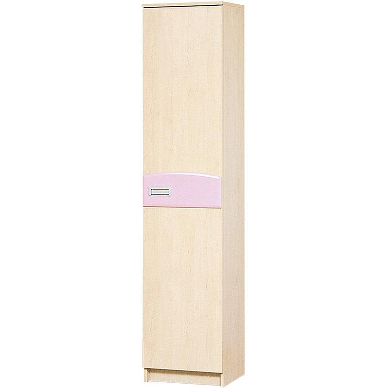 Шафа пенал в дитячу кімнату з ДСП і МДФ Террі 500 Клен/Рожевий глянець Світ меблів