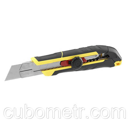 Нож FatMax длиной 205 мм с лезвием шириной 25 мм с отламывающимися сегментами и винтовым фиксатором STANLEY, фото 2