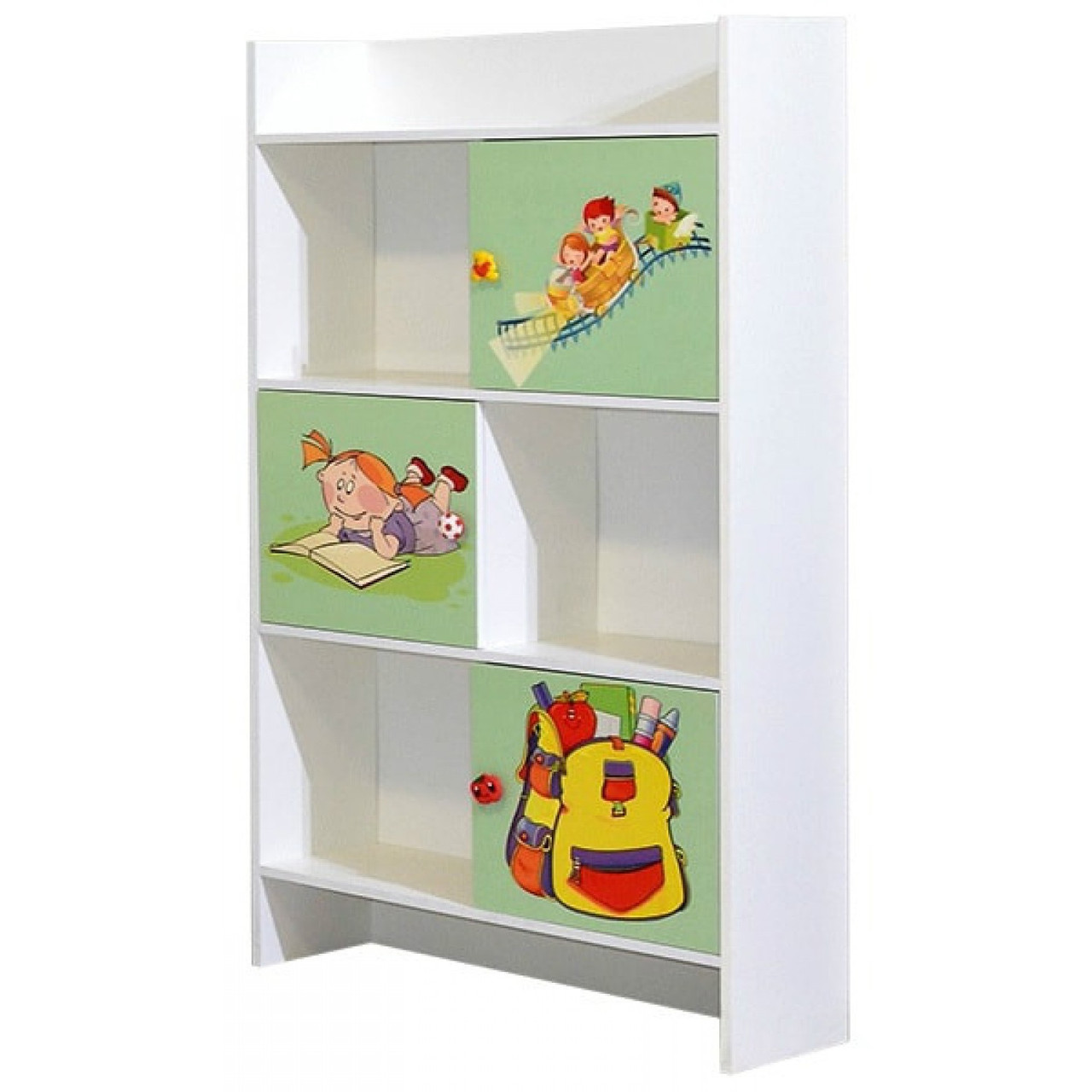 Книжный шкаф в детскую комнату из ДСП Мульти Алфавит Світ меблів