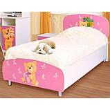 Кровать односпальная из ДСП в детскую комнату 90*200 Мульти Мишки Світ меблів, фото 2