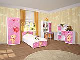Ліжко односпальне з ДСП в дитячу кімнату 90*200 Мульти Ведмедики Світ меблів, фото 3