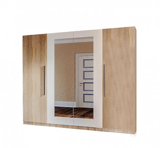 Шкаф для одежды 4Д Світ Меблів Лилея новая дуб сонома/белый