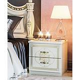 Тумба приліжкова в спальню з ДСП Жасмин Білий Світ меблів, фото 2