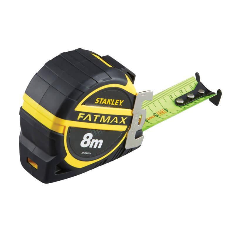 """Рулетка вимірювальна STANLEY """"FatMax® PRO II"""", 8мх32мм, прогумований литий корпус."""