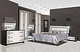 Ліжко двоспальне з ДСП 180*200 Бася Нова Олімпія Світ меблів з каркасом ламелевым, фото 2