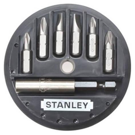 Набір біт STANLEY, Philips, Pozidriv, PH1, PH2, PZ1, PZ2, L= 25 мм, 7 шт, пластикова коробка, фото 2