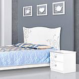 Тумба прикроватная в спальню из ДСП Фелиция Новая Белый Світ меблів, фото 3