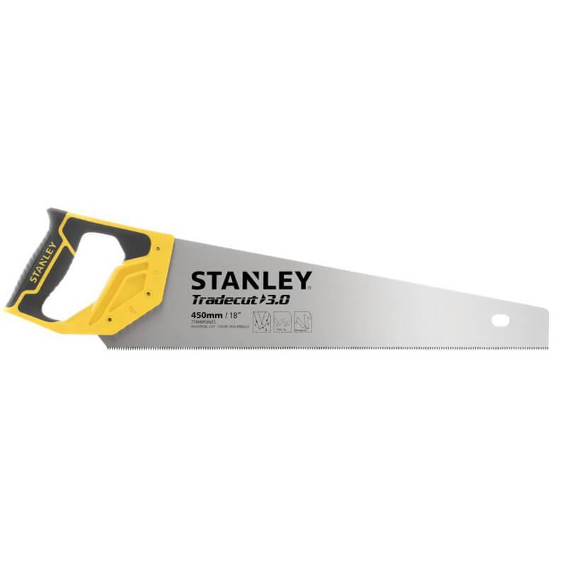 """Ножівка STANLEY """"Tradecut"""", універсальна, із загартованими зубцями, L=450мм, 7 tpi."""