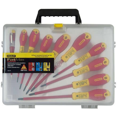 Набор из десяти изолированных отверток для электриков FatMax VDE 1000V STANLEY 0-62-573