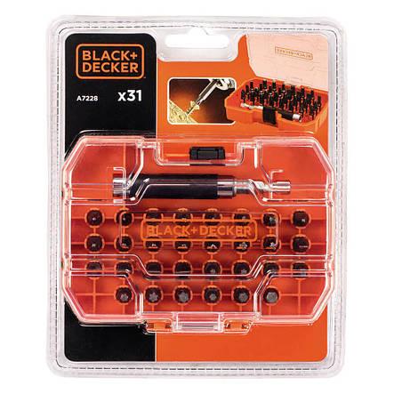 Набір біт BLACK+DECKER, 2xPh1, 2xPz1, 2xSL6, SL7.2, T30, Hx3, L= 25 мм, 31 шт, коробка, фото 2