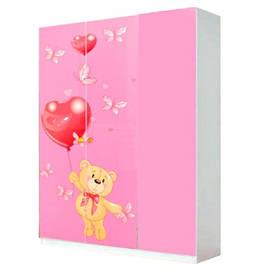 Шкаф в детскую комнату из ДСП Мульти 3Д Мишки Світ меблів