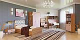 Шкаф в детскую комнату из ДСП Колибри 3Д Орех Марино/Розовый Світ меблів, фото 2