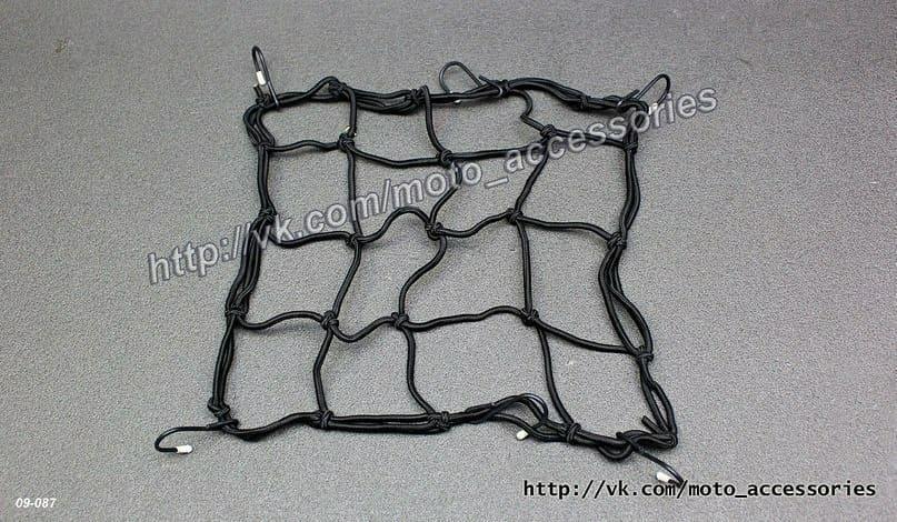 Багажная сетка для мотоцикла (Черная)
