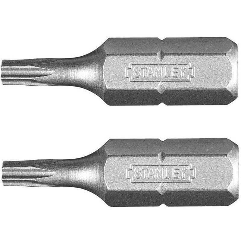 Набір біт STANLEY, одностороння, Torx, Т15, L = 25 мм, 2 шт., блістер