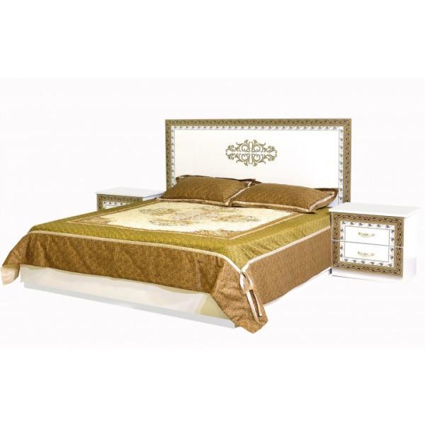 Кровать двуспальная из ДСП 160*200 София Белый Світ меблів