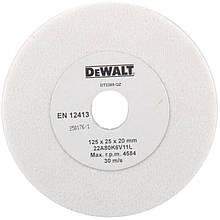 Коло заточний для точила DeWALT, чорний/кольоровий метал, 80х125х25 мм, G 80 мкм (корунд білий)