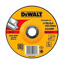 Круг шліфувальний DeWALT, чорний/кольоровий метал, 150х6х22.23 мм