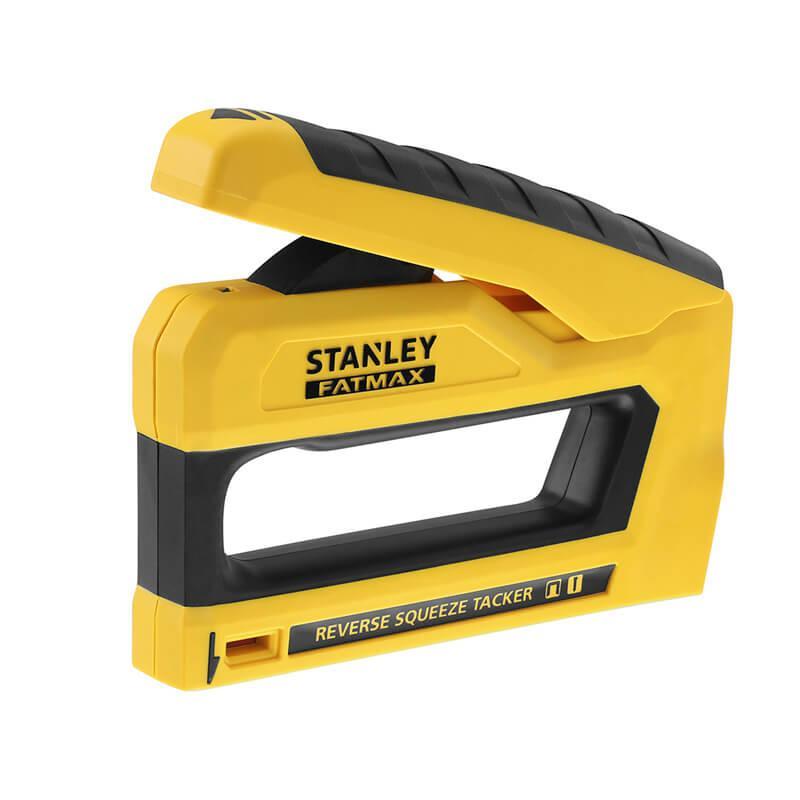 """Степлер STANLEY """"FatMax®"""" під скоби типу """"G"""" довжиною 6-14 мм і цвяхи типу """"J"""" довжиною 12; 15 мм."""
