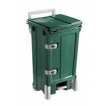 Контейнер для мусора с дверцей 90л зеленого цвета