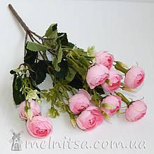 Букет ранункулюсов 10 бутонов по 2,7-3 см, нежно-розовый
