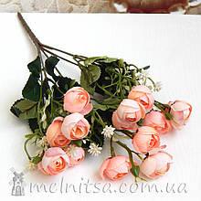 Букет ранункулюсов 10 бутонов по 2,5 см, розово-персиковые