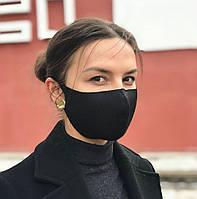 ✨ Захисна маска Багаторазова Пітта комплект 3шт. чорна (PITTA+3) без клапана, використовується у всьому світі ✨, фото 1