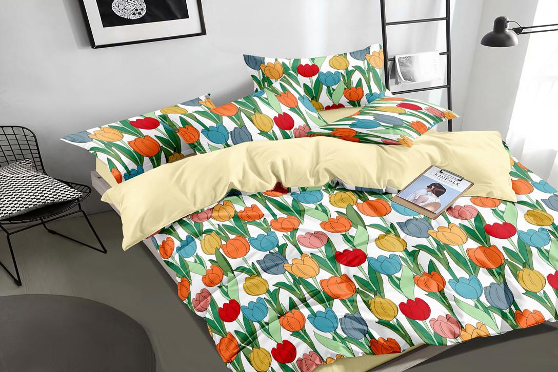 Двуспальный комплект постельного белья 180*220 сатин (16338) TM КРИСПОЛ Украина