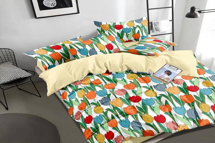 Двуспальный комплект постельного белья 180*220 сатин (16338) TM КРИСПОЛ Украина, фото 2