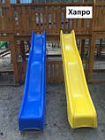 Дитяча гірка пластикова для будинку і дачі, пластмасова гірка спуск 3 м HAPRO зелена, фото 7