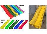 Дитяча гірка пластикова для будинку і дачі, пластмасова гірка спуск 3 м HAPRO зелена, фото 8