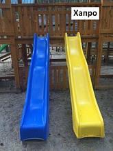 Гірки для дітей пластикова 3м синя, Дитяча гірка для будинку HAPRO