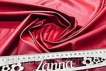 Ткань экокожа (Искусственная кожа) красный цвет