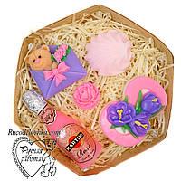 Мило набір 8 березня, вісімка, мартіні, зефирка, троянда міні, ведмедик, подарунок мамі, подрузі, ручна робота