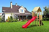 Дитяча гірка пластикова для будинку і дачі, пластмасова гірка спуск 3 м HAPRO червона, фото 6