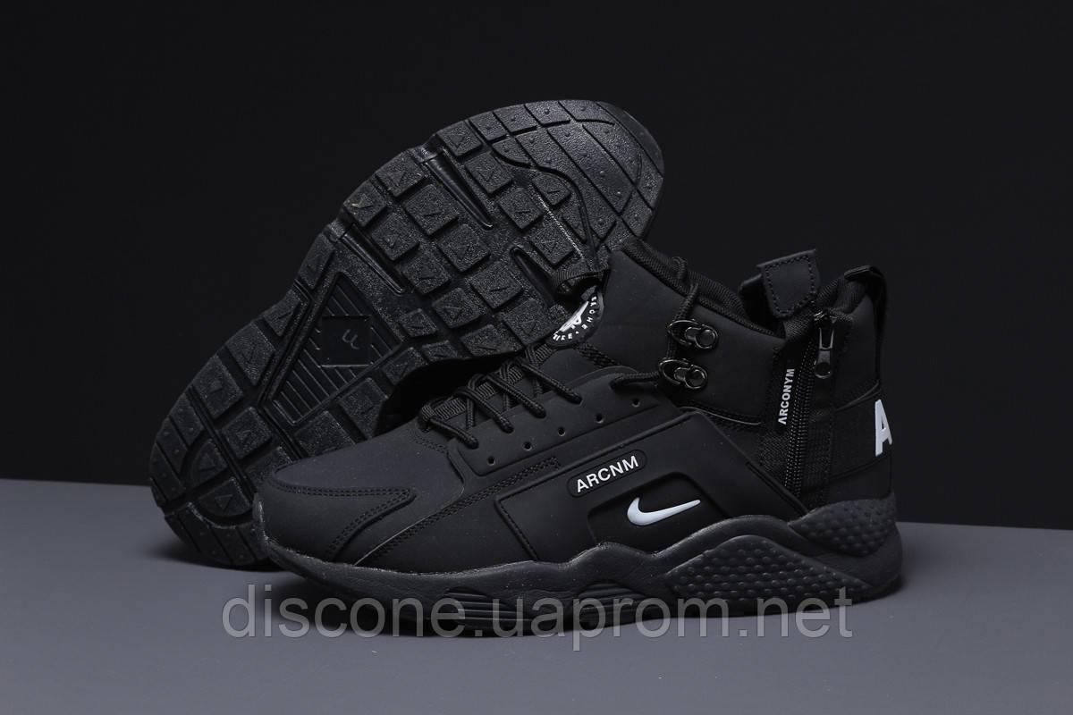 Зимние мужские кроссовки 31542, Nike Arcnm (мех) черные ✅Скидка % [ нет в наличии ] ► (44-28,3см)