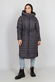 Тёплый женский длинный пуховик зимний, большого размера от 44 до 58