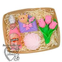 Мило набір 8 березня, вісімка, мартіні, мишка в конверті, зефирка, подарунок мамі, подрузі, ручна робота