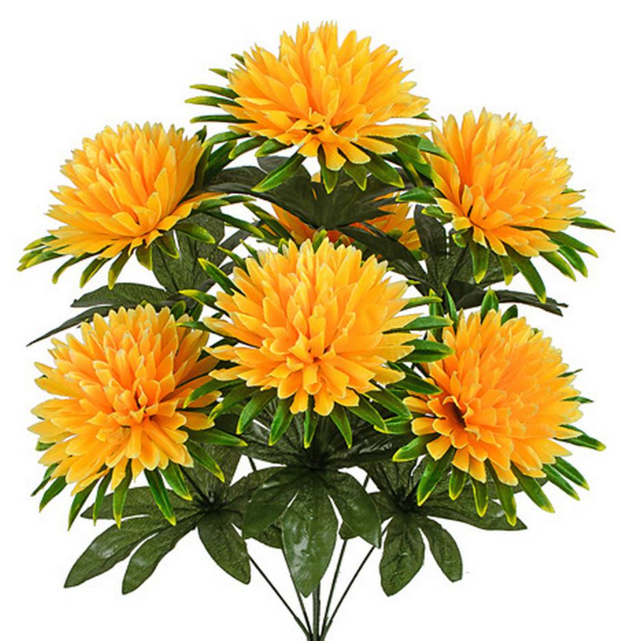 Штучні квіти букет хризантеми, 56см( 20 шт в уп.)