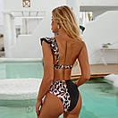 Жіночий роздільний купальник із завищеною талією жіночий купальник на одне плече, фото 3