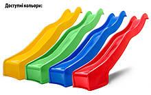 Дитяча гірка пластикова для будинку і дачі, пластмасова гірка спуск 3 м HAPRO жовта