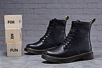 Зимние женские ботинки 31830, Dr.Martens черные Скидка 28% [ 36 37 ] (36-23,0см)