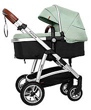 Универсальная коляска 2 в 1 Carrello Fortuna CRL-9001/1 Forest Green c матрасом +дождевик
