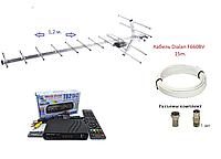 Комплект Т2: тюнер Т2 World Vision T62D2 + антенна Т2 DVB 17_KA(1.2m до 65 км)+ кабель 15м