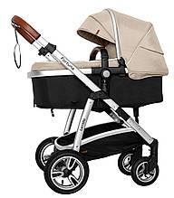 Универсальная коляска Carrello Fortuna 2 в 1 CRL-9001/1 Peanut Beige c матрасом +дождевик