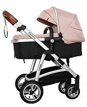 Универсальная коляска Carrello Fortuna 2 в 1 CRL-9001/1 Coral Pink c матрасом +дождевик