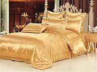 """Роскошное постельное белье атлас шелк """"Золото"""" Евро размер. Постельный комплект атласный золото евро размер"""
