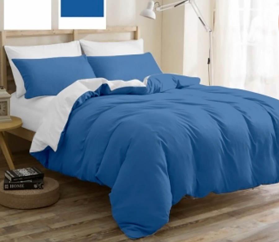 """Однотонное постельное белье голубое из бязи Ранфорс """"Сафари"""" Двойной размер"""